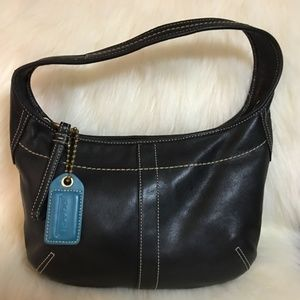 COACH ERGO Soft & Supple Black Leather Hobo